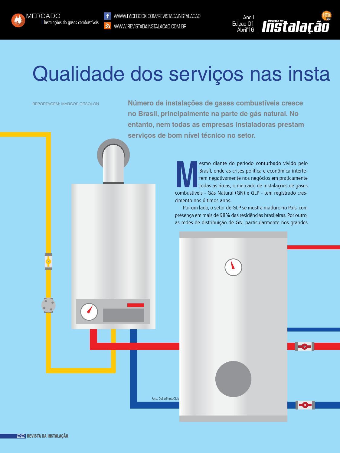Mercado Instala Es De Gases Combust Veis Edi O 01 Da Revista