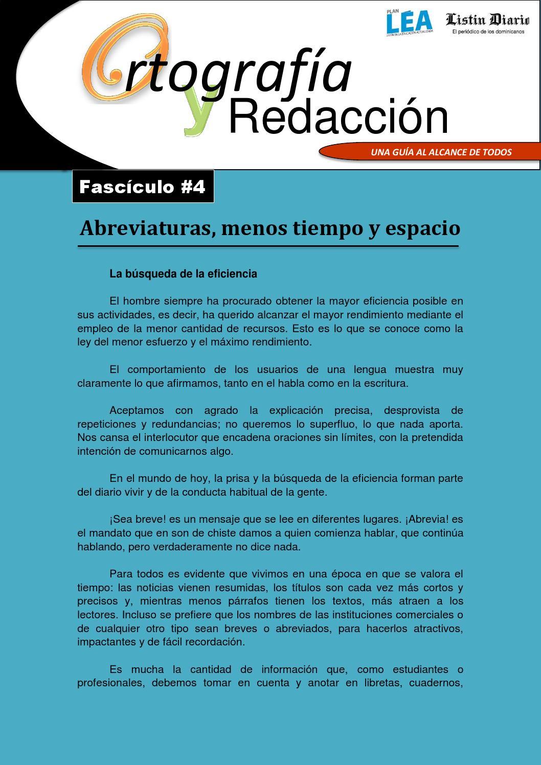 Ortografía y redacción fascículo #4 by Listín Diario - issuu
