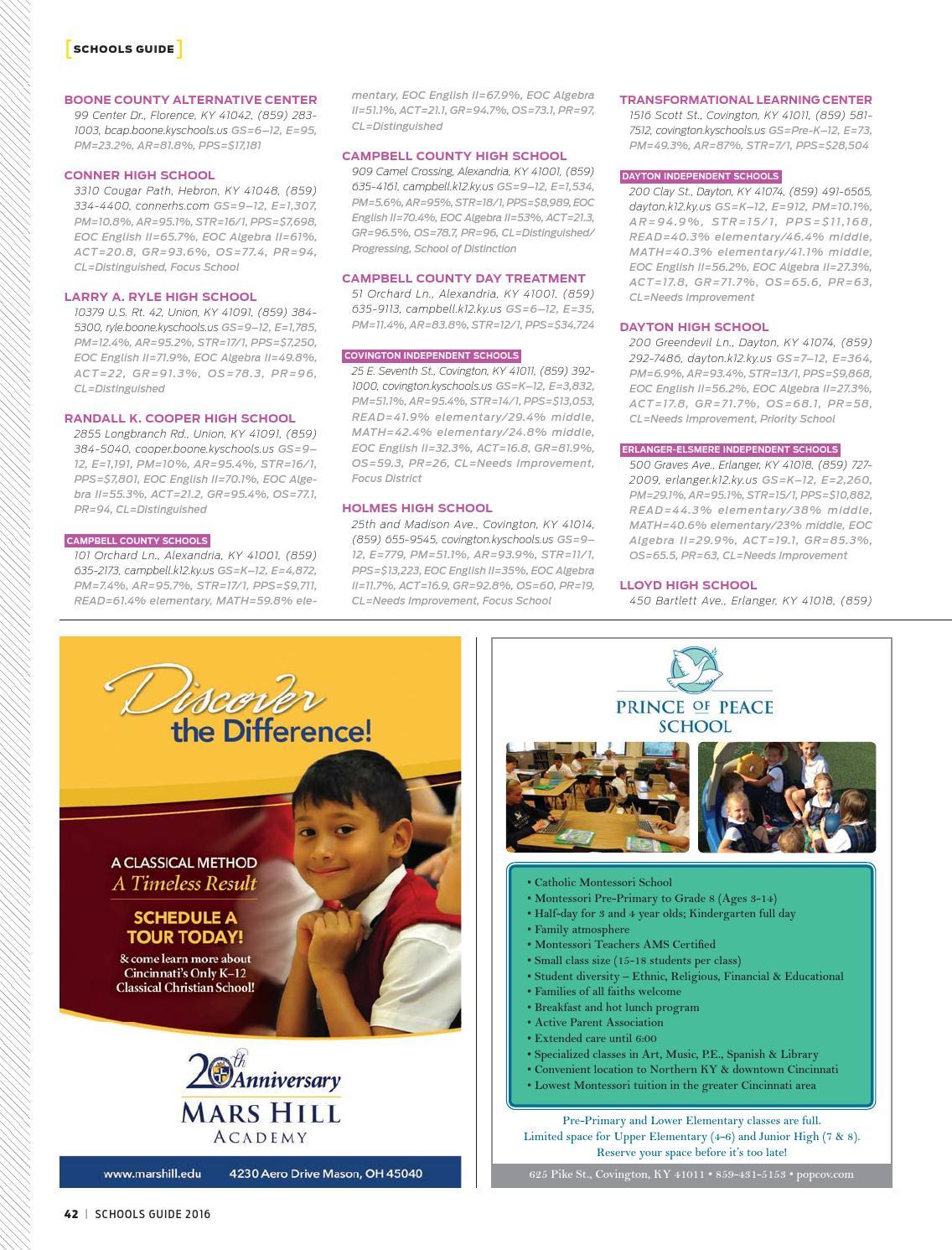 Cincinnati Magazine Schools Guide 2016 by Cincinnati