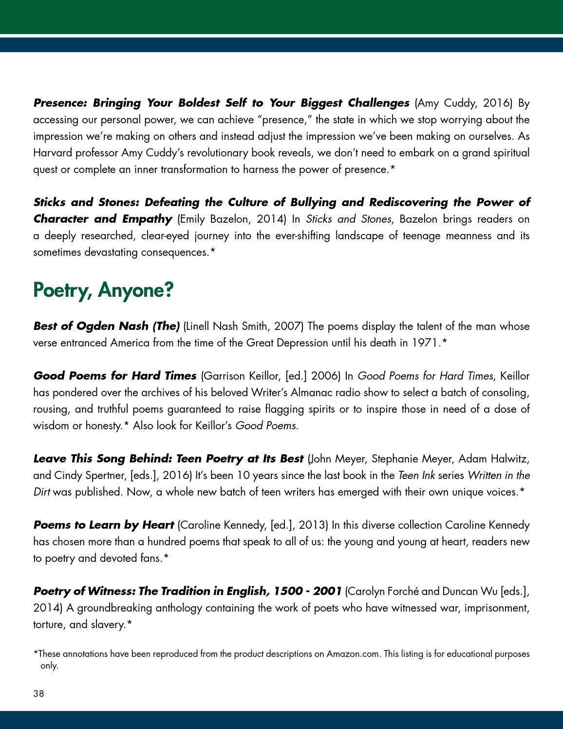 WRA Summer Reading Program 2016 by Western Reserve Academy - issuu