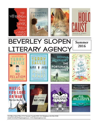Summer 2016 Catalogue By Beverley Slopen Literary Agency Issuu