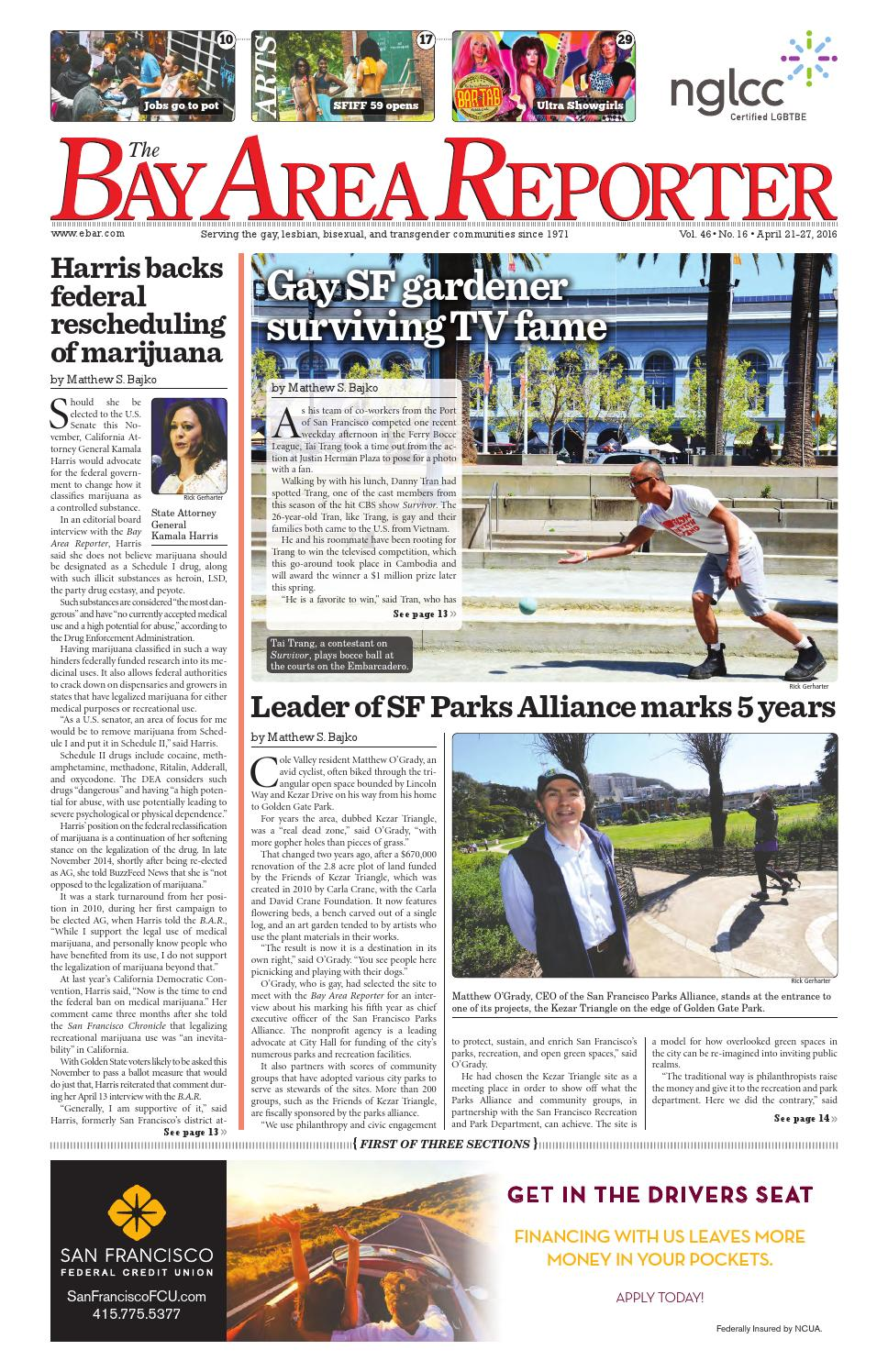 Bay Area Reporter : April edition of the bay area reporter by