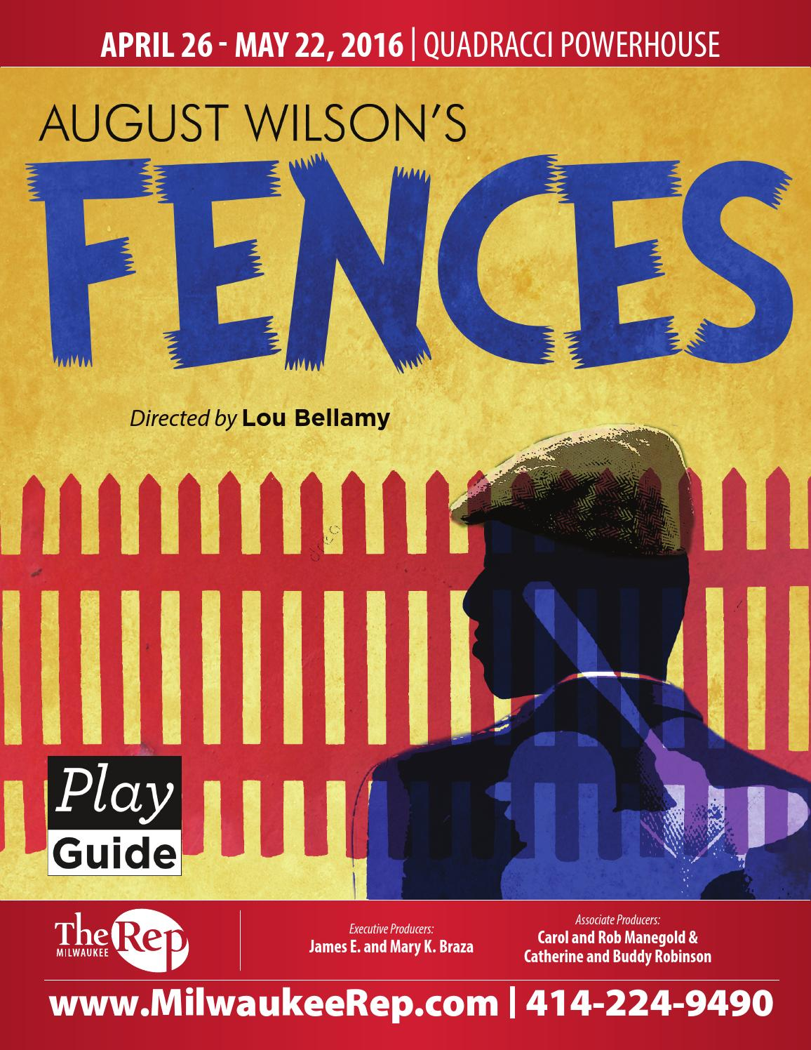 a plot summary of augustine wilsons play fences This one-page guide includes a plot summary and brief analysis of fences by august wilson the play fences is about troy maxson, a middle-aged black man, and his struggles to provide for his family in the 1950s.