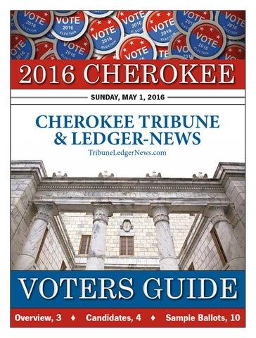 Cherokee Voters Guide 2016 by Otis Brumby III - issuu