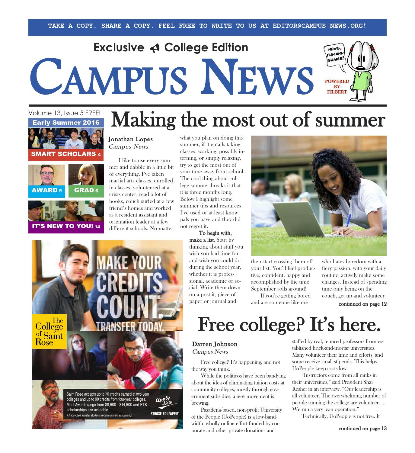 CAMPUS NEWS: The early summer issue!