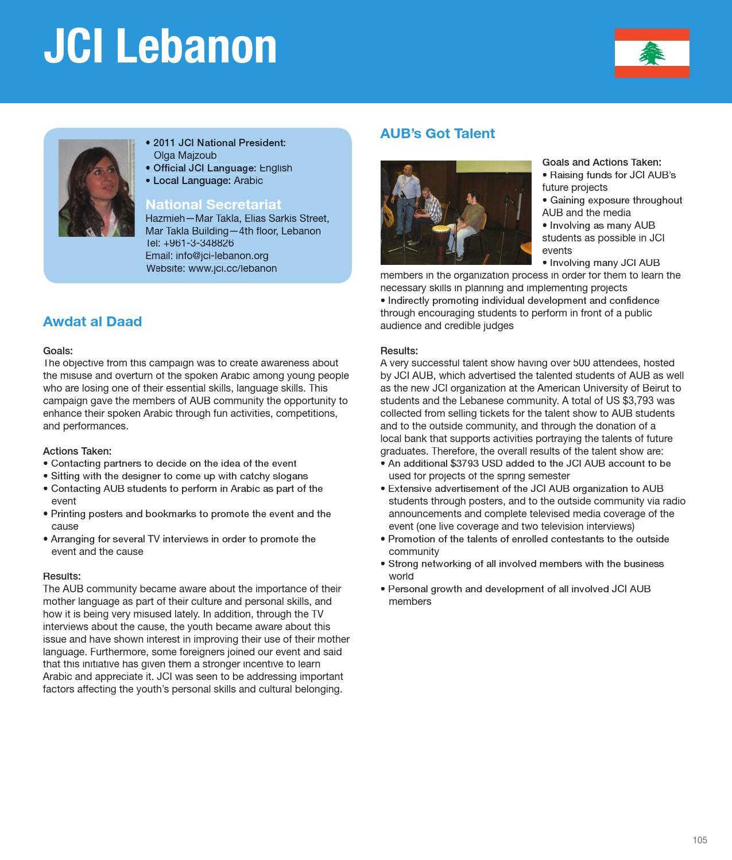 2011 JCI Annual Report by Junior Chamber International - issuu