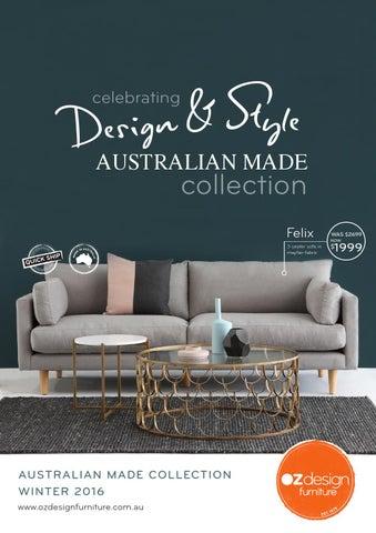 Celebrating Design   Style   Australian Made Collection. MODERN AUSTRALIAN LIVING   OZ Design Furniture Winter 16 Directory