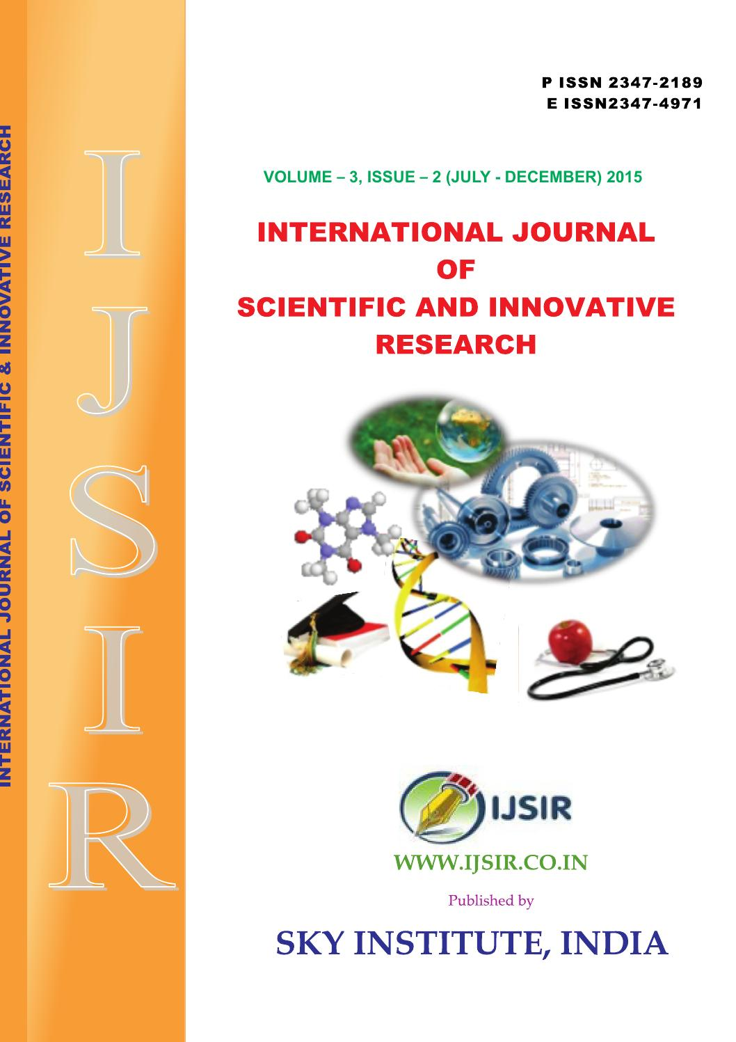 International journal of scientific and innovative research 2015 3 international journal of scientific and innovative research 2015 32p issn 2347 2189 e issn 2347 by sky insititute issuu fandeluxe Image collections