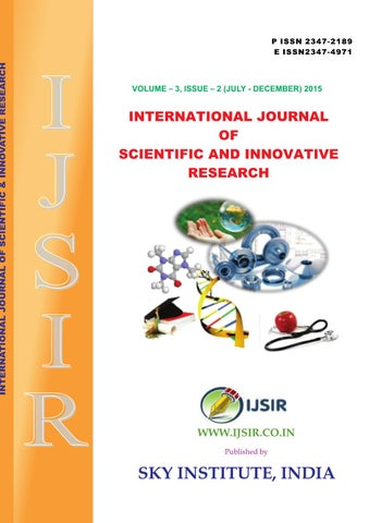 international journal of scientific and innovative research 2015 3