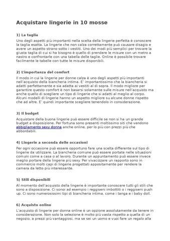detailing b1e37 8ec65 Acquistare lingerie in 10 mosse by ParisLingerie - issuu