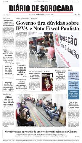 4a18309ee0eba Edição de 04 de maio de 2016 by DIÁRIO DE SOROCABA - issuu