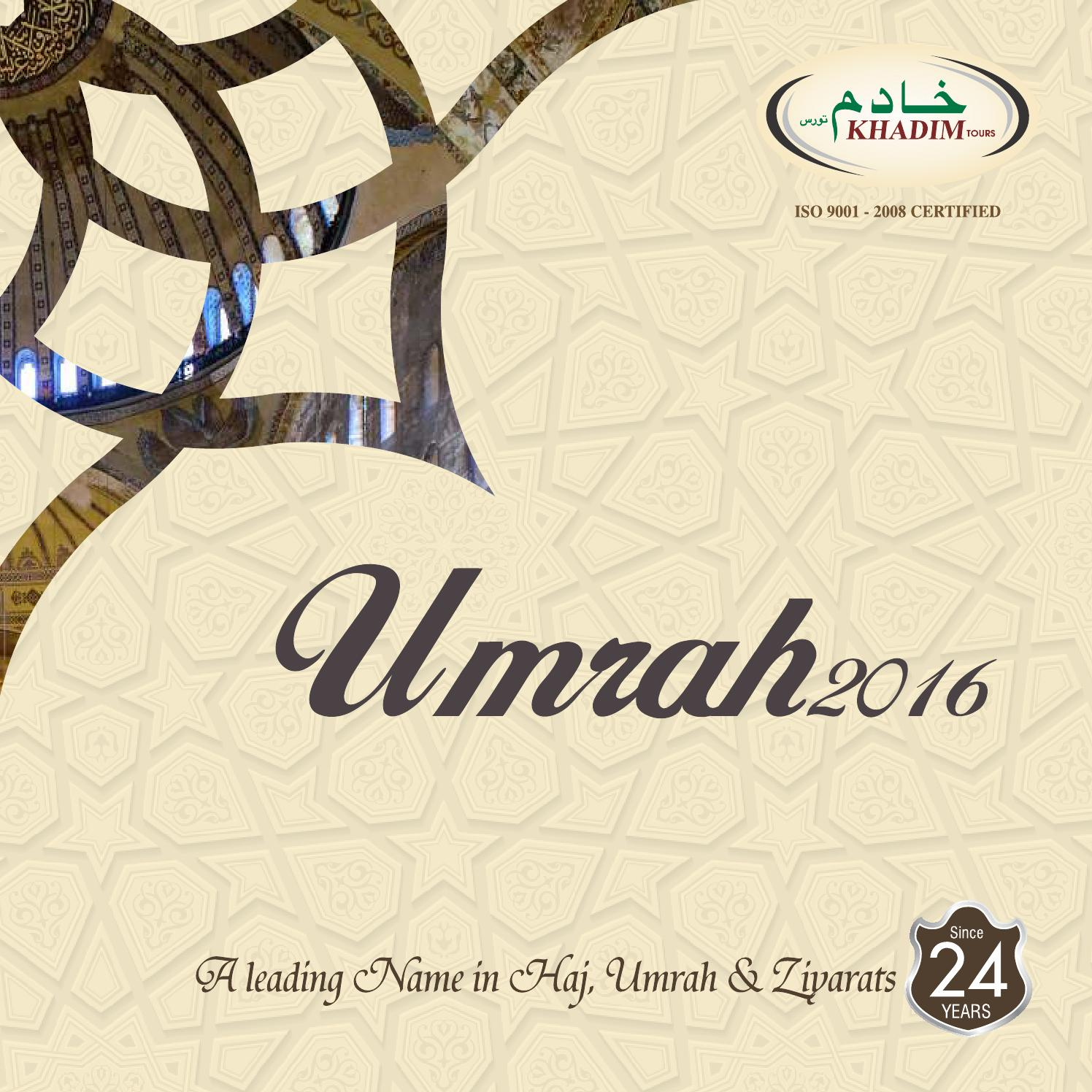 Khadim Tours Umrah Brochure 2016 By Spicetree Design