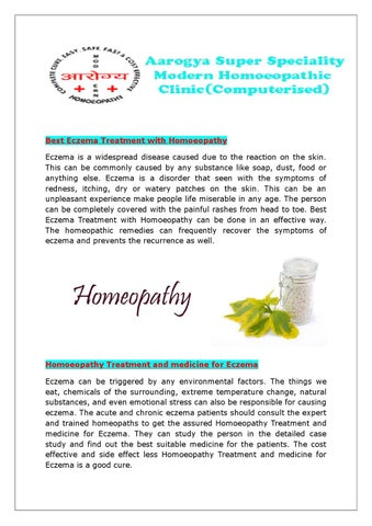 How can eczema be cured permanently? by Homoeopathy - issuu