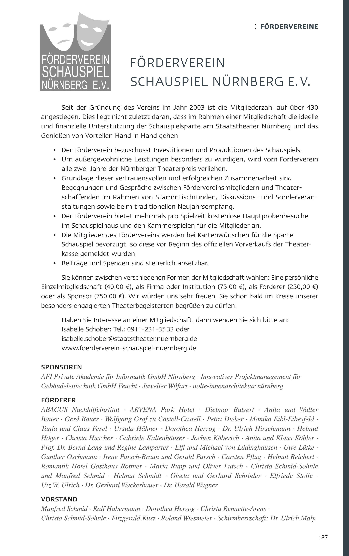 Anspruchsvoll Innenarchitektur Nürnberg Referenz Von Staatstheater Nürnberg - Spielzeitheft 2016 / 2017