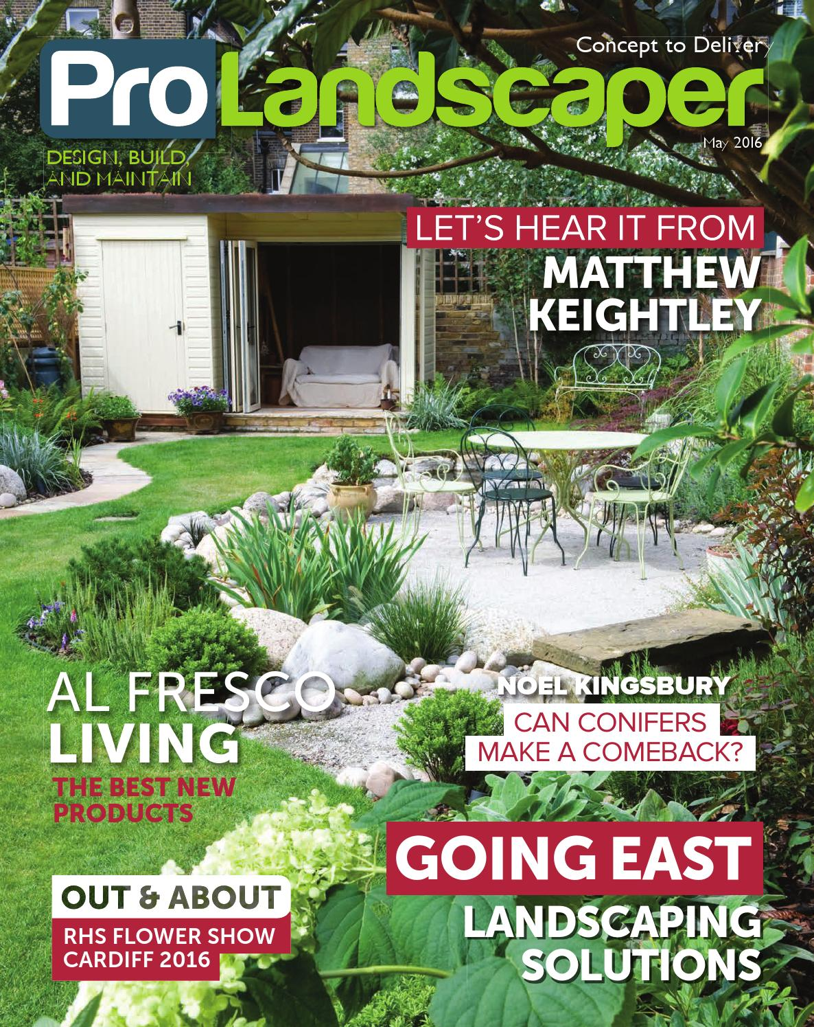 Pro Landscaper May 2016 By Eljays44 Issuu