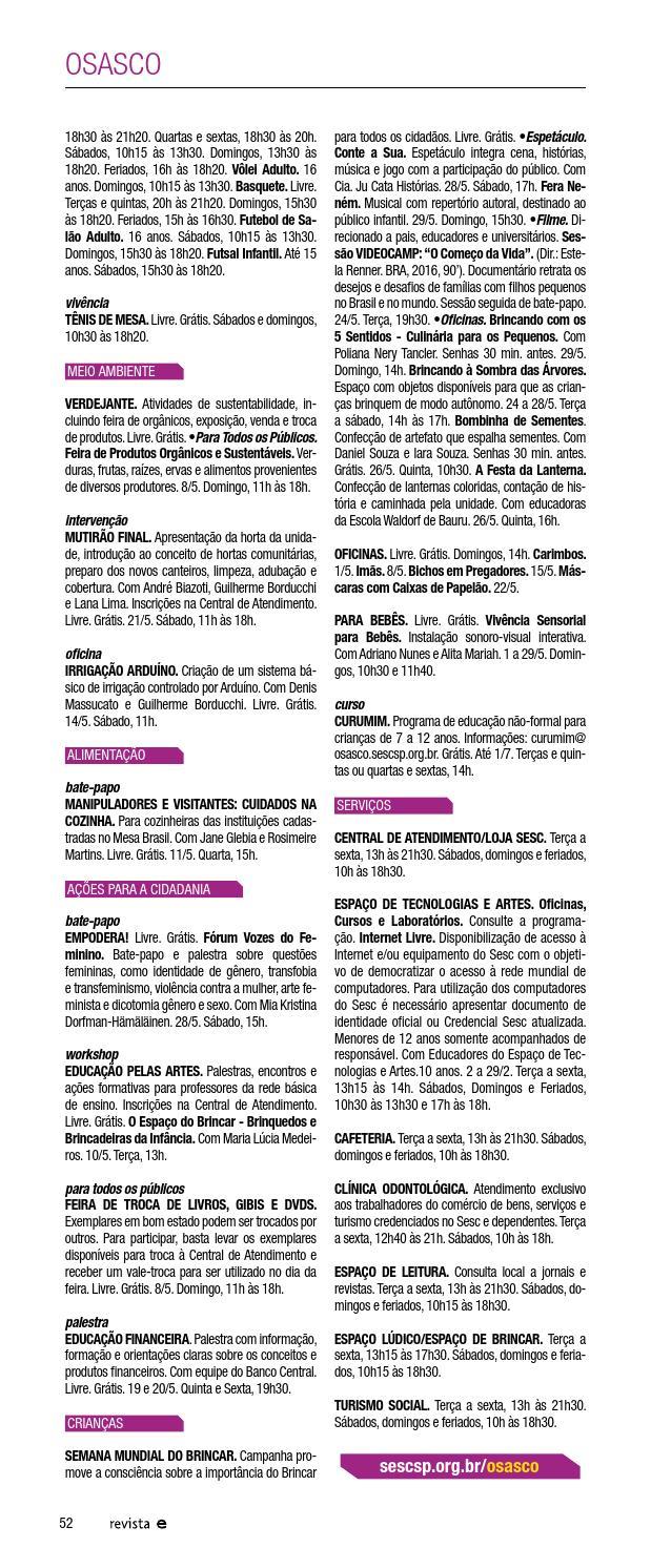 16ccecc08 Em Cartaz - Maio 2016 by Sesc em São Paulo - issuu