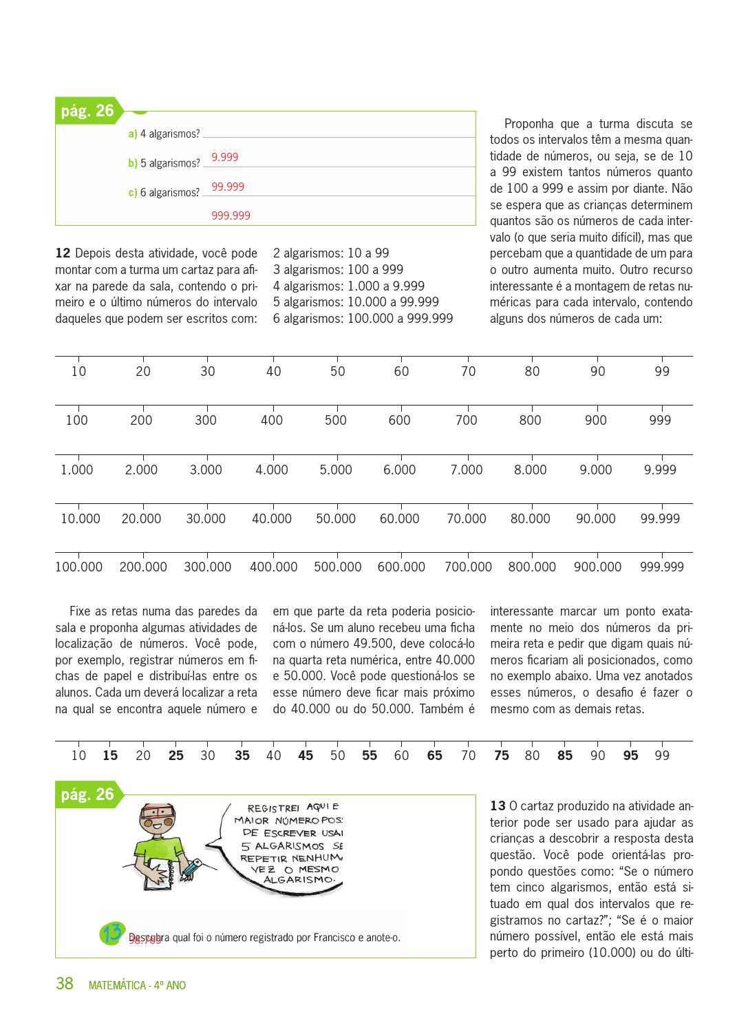 Matemática 4º Ano 1º Bimestre Versão Professor By Secretaria