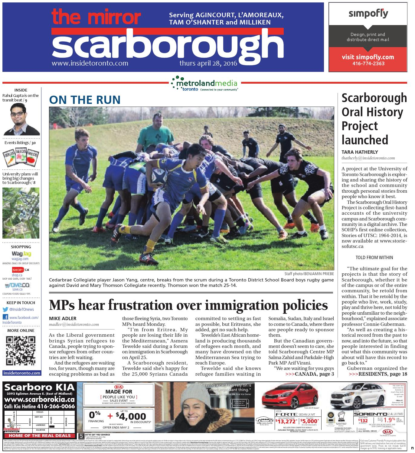 The Scarborough Mirror North April 28 2016 by The Scarborough