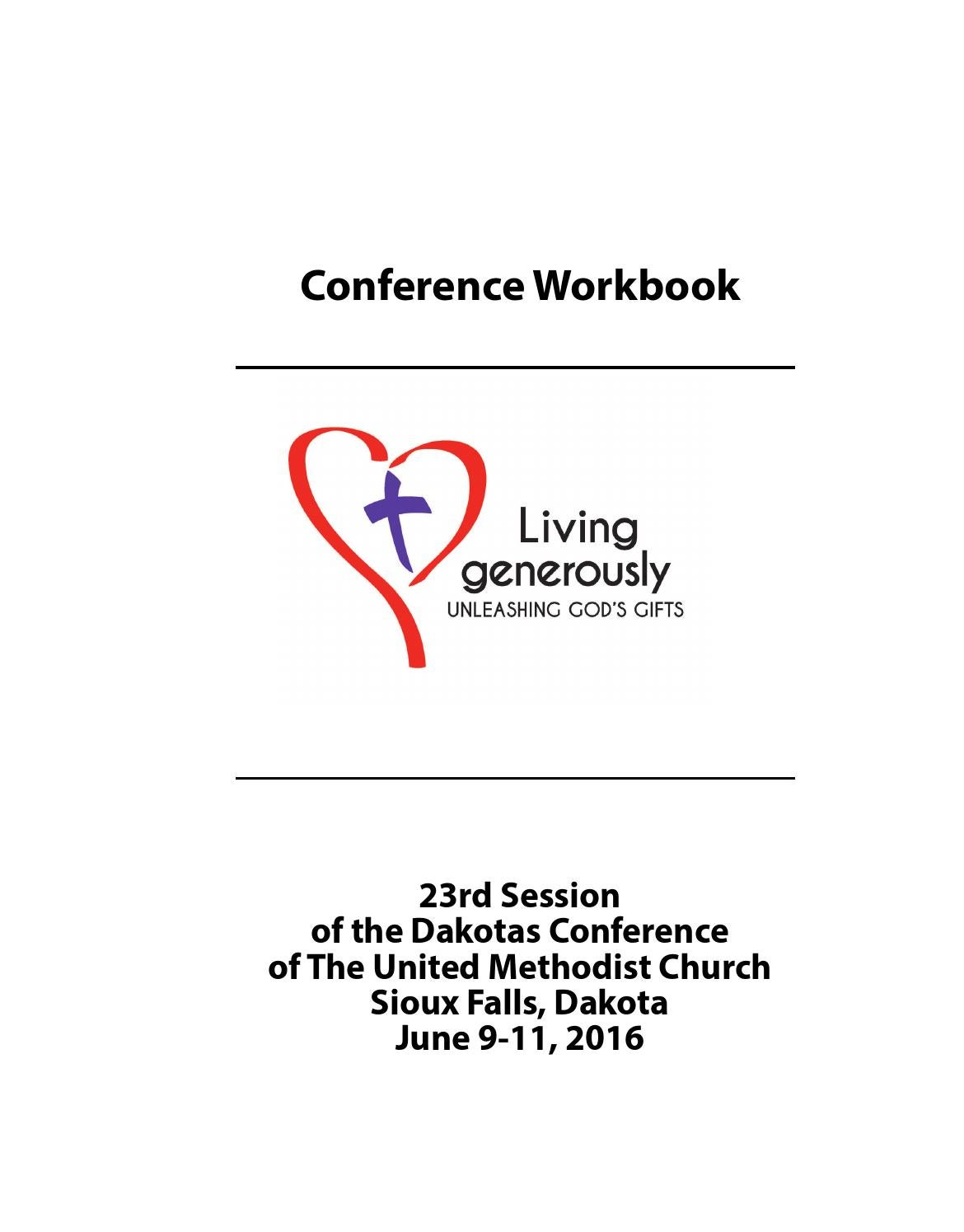 Conference Workbook 2016 by Dakotas Conference UMC - issuu