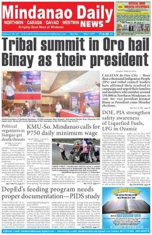 Mindanao Daily Northmin May 5 2016 By Dante Sudaria Issuu
