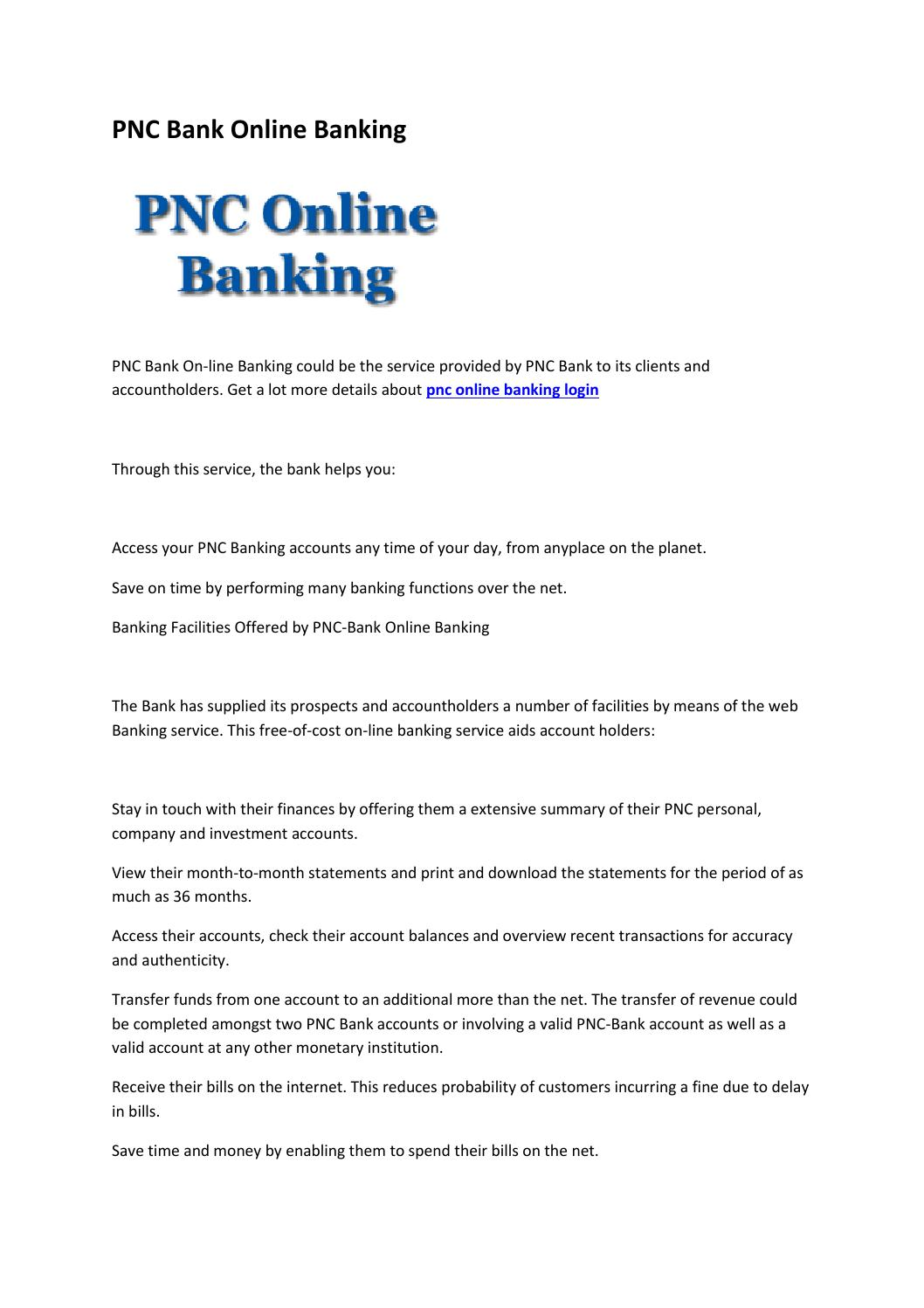 pnc online banking personal account log in