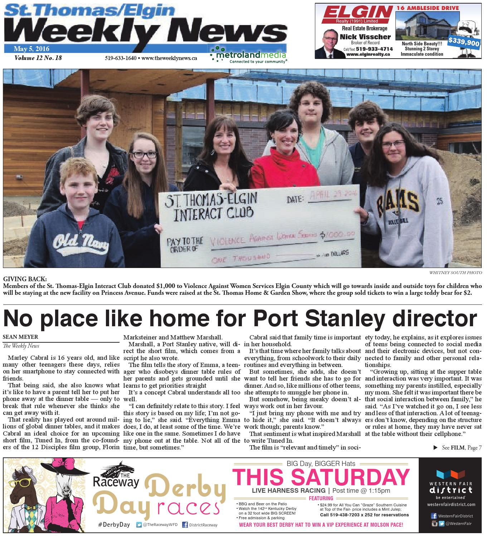 St  Thomas May 5, 2016 by St Thomas/Elgin Weekly News - issuu