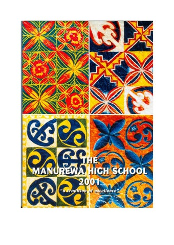 Magazine 2001 By Manurewa High School Issuu