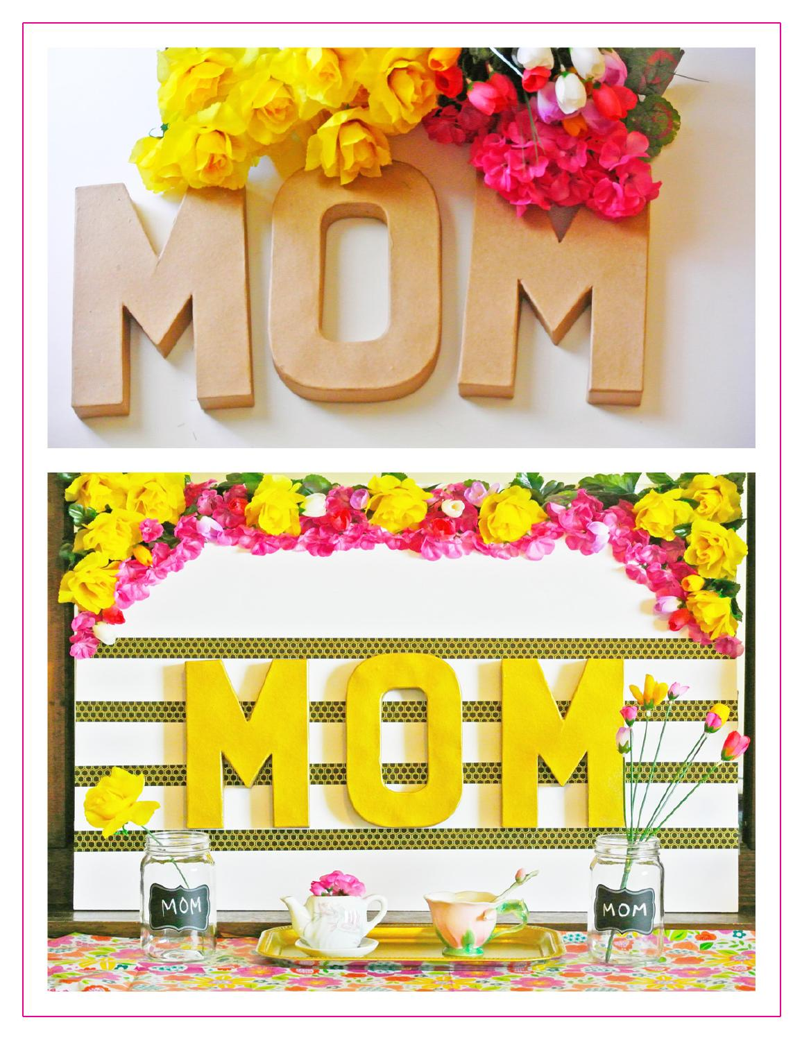 Mother's Day DIY MOM Floral Prop