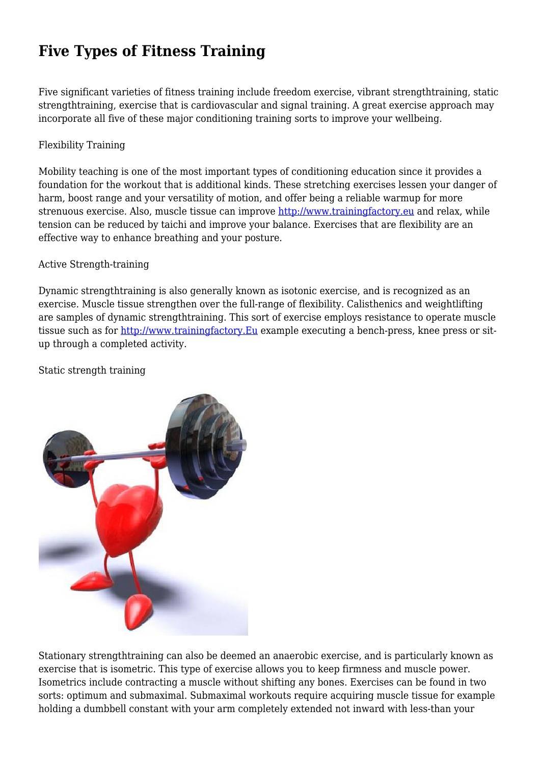 Five Types of Fitness Training by dawsonrgopijjkvl - issuu