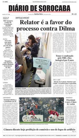 Edição de 05 de maio de 2016 by DIÁRIO DE SOROCABA - issuu 3409304259055