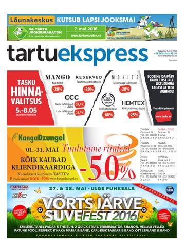 07f4434ab72 Tartu Ekspress, 5.05.2016 by Tartu Ekspress - issuu