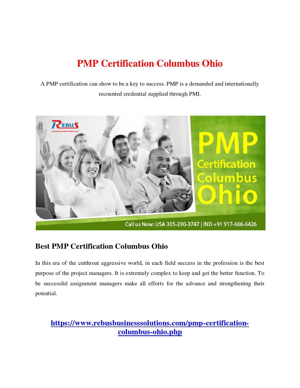 Pmp certification columbus ohio by malinimn issuu 1betcityfo Choice Image