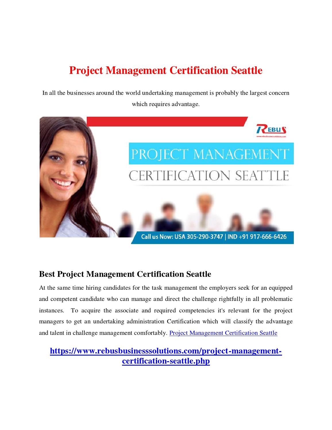 Project Management Certification Seattle By Raginirs Issuu
