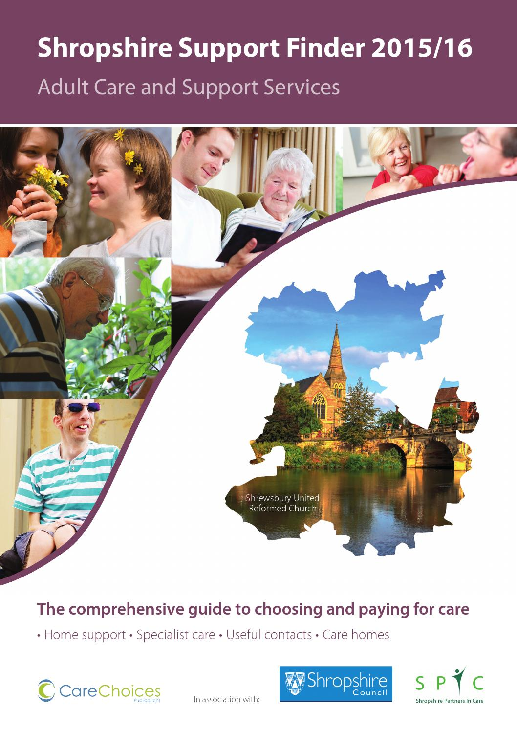 Shropshire Support Finder 2015 16 By Care Choices Ltd