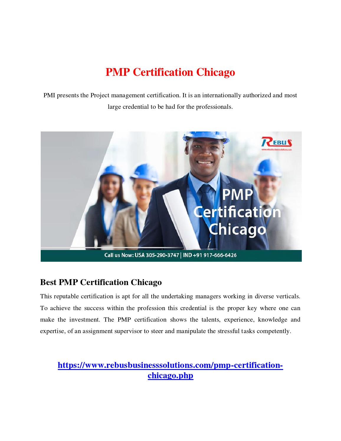 Pmp Certification Chicago By Keerthisuresh Issuu