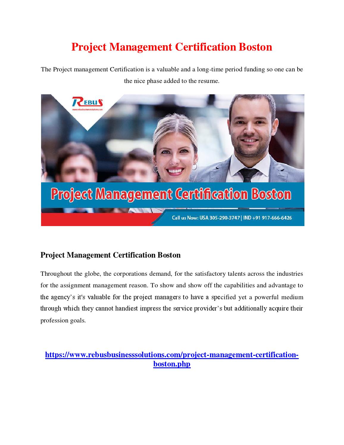 Project Management Certification Boston By Divyavenu Issuu