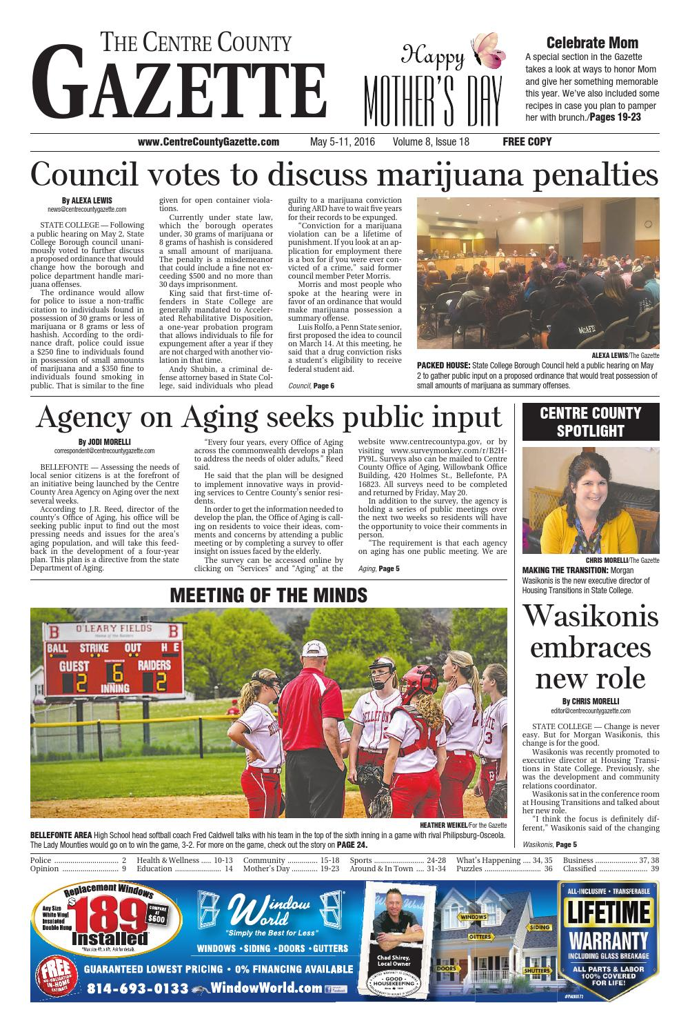 5 5 16 centre county gazette by Indiana Printing