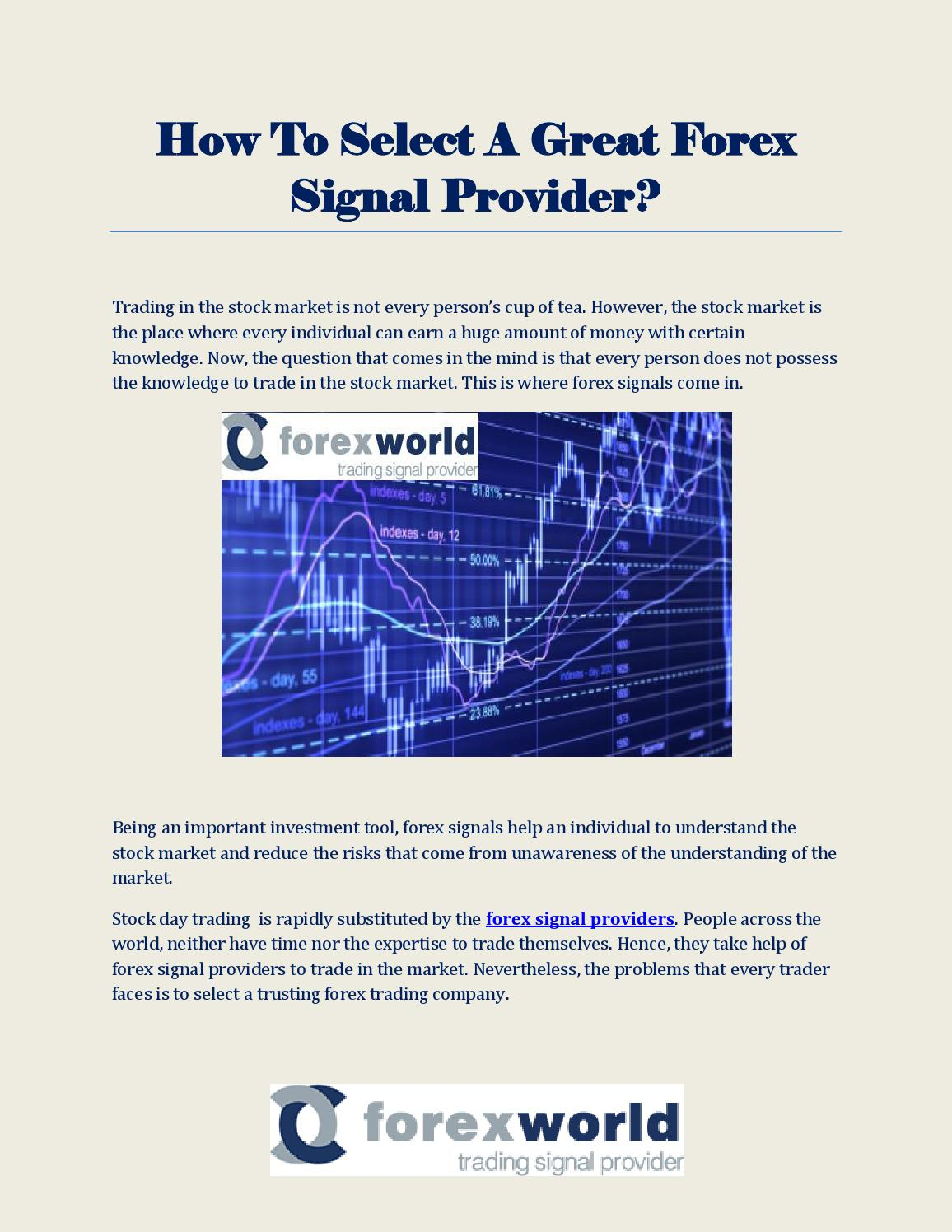 Forex signal providers