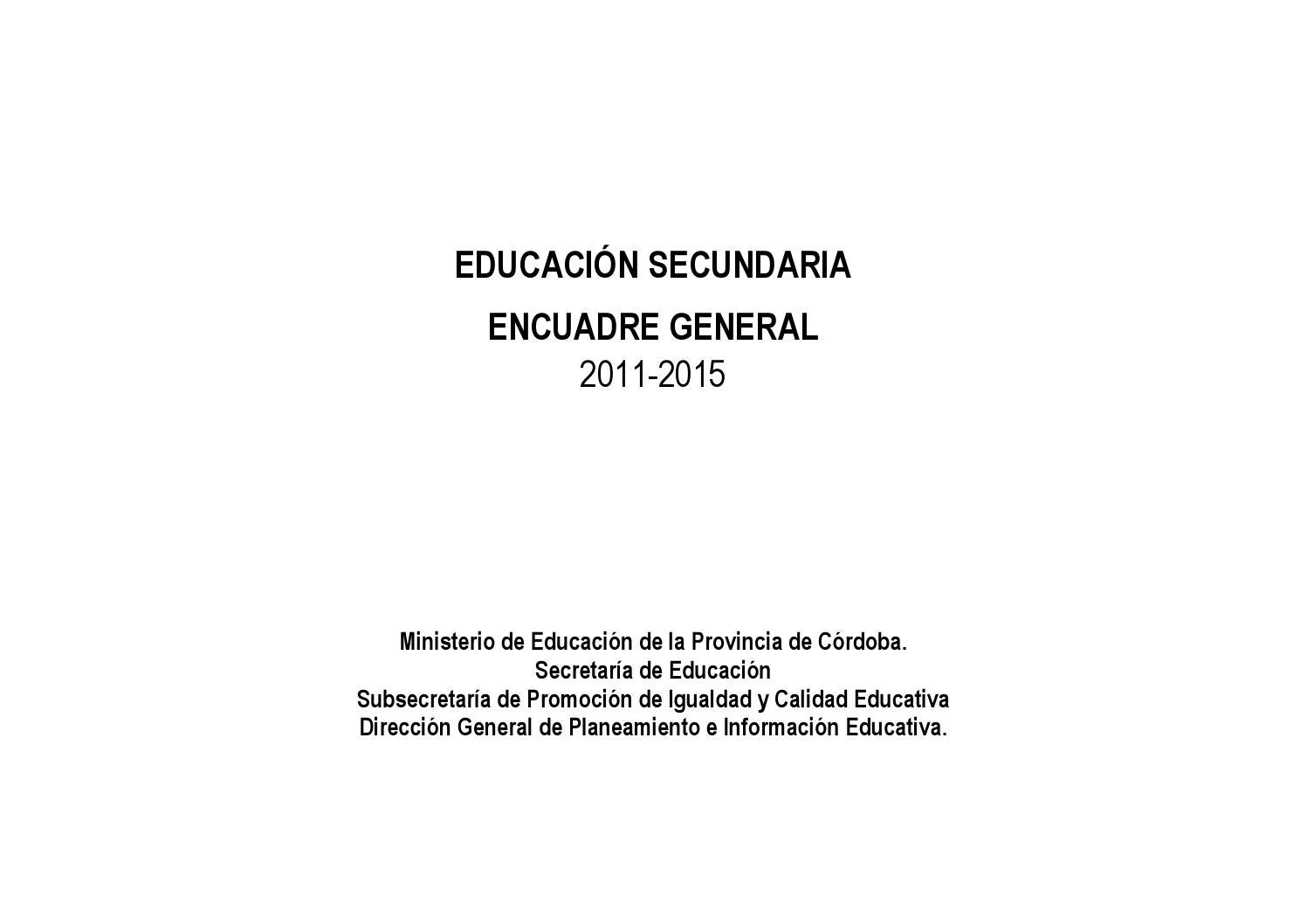 Tomo 1: Encuadre General Educación Secundaria by Equipo Orientación ...
