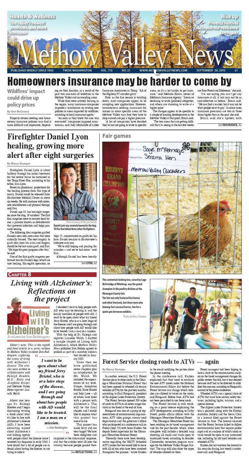 Homeowners Insurance Company >> Methow Valley News, Sept. 30, 2016 by Methow Valley News ...