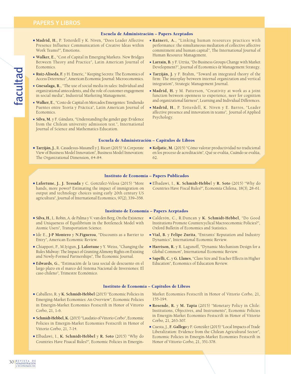 Revista A&E nº83 by Facultad de Ciencias Económicas y Administrativas UC -  issuu