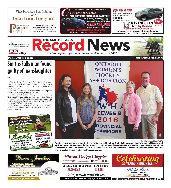 f0aca13ee4620 Smithsfalls050516 by Metroland East - Smiths Falls Record News - issuu