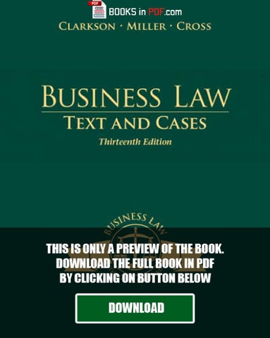 legal aspects of business pdf free download