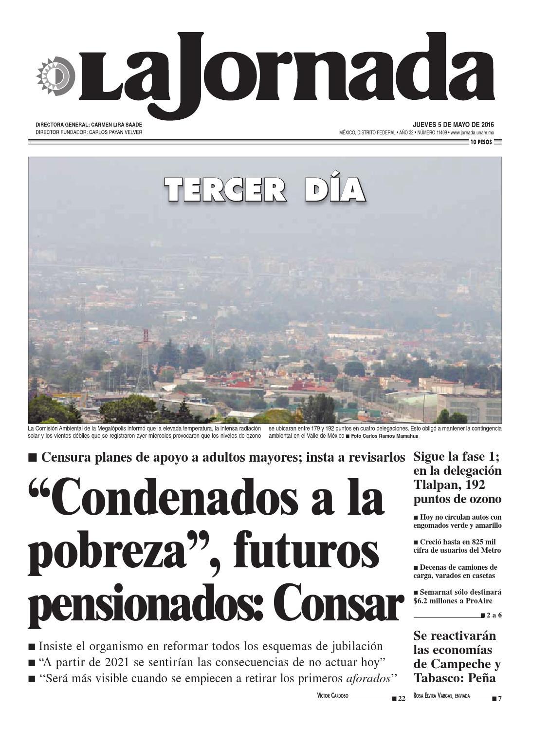 La Jornada, 05/05/2016 by La Jornada: DEMOS Desarrollo de Medios ...