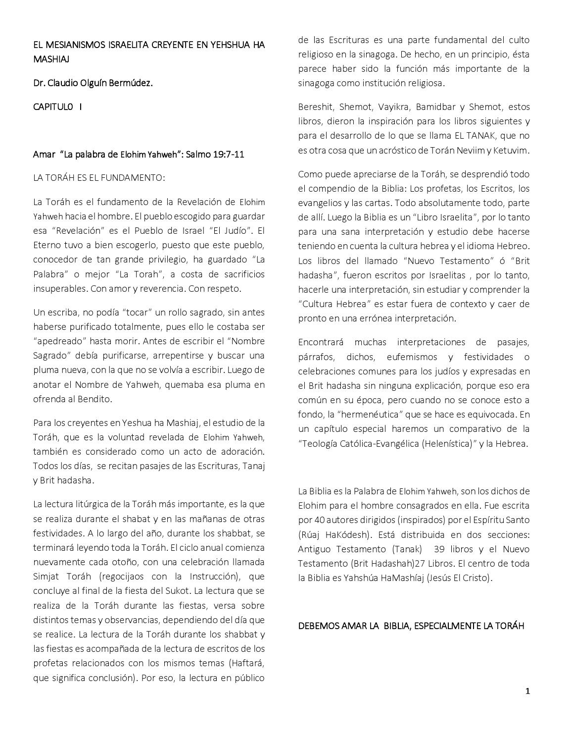 Creencia israelitas mesianicos by Claudio andres olguin - issuu