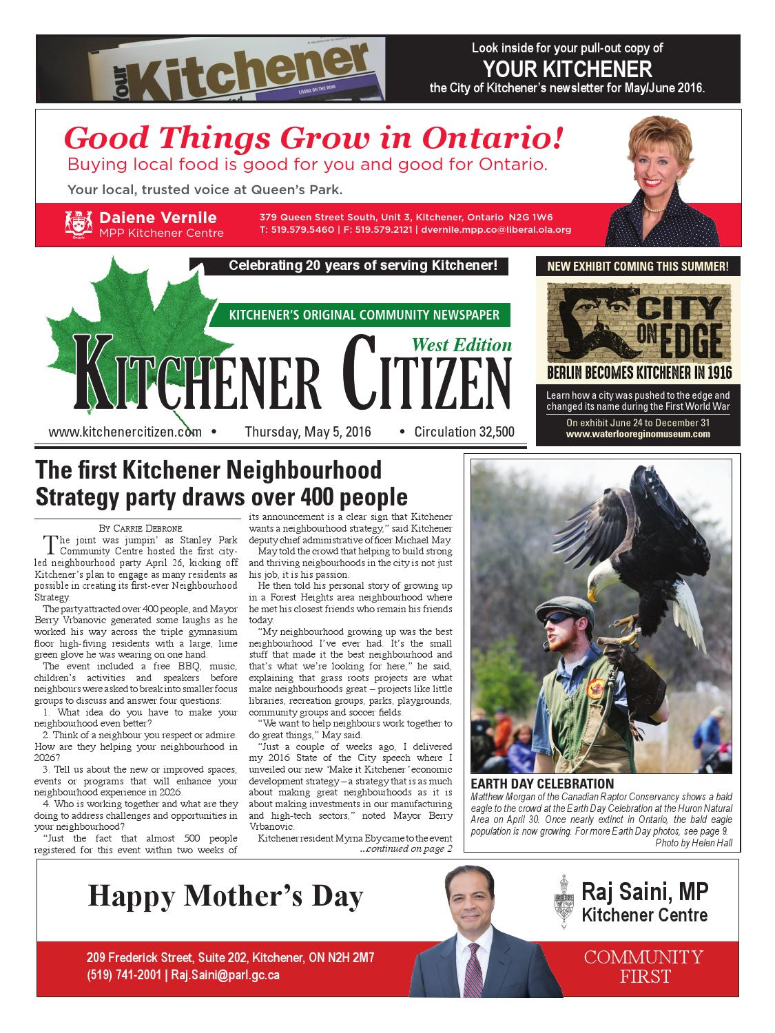 Kitchener Citizen - West Edition - May 2016 by Kitchener Citizen - issuu