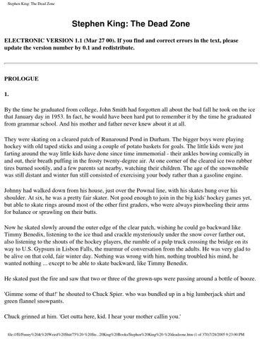 Stephen King Dead Zone By Vinayak Pandey Issuu
