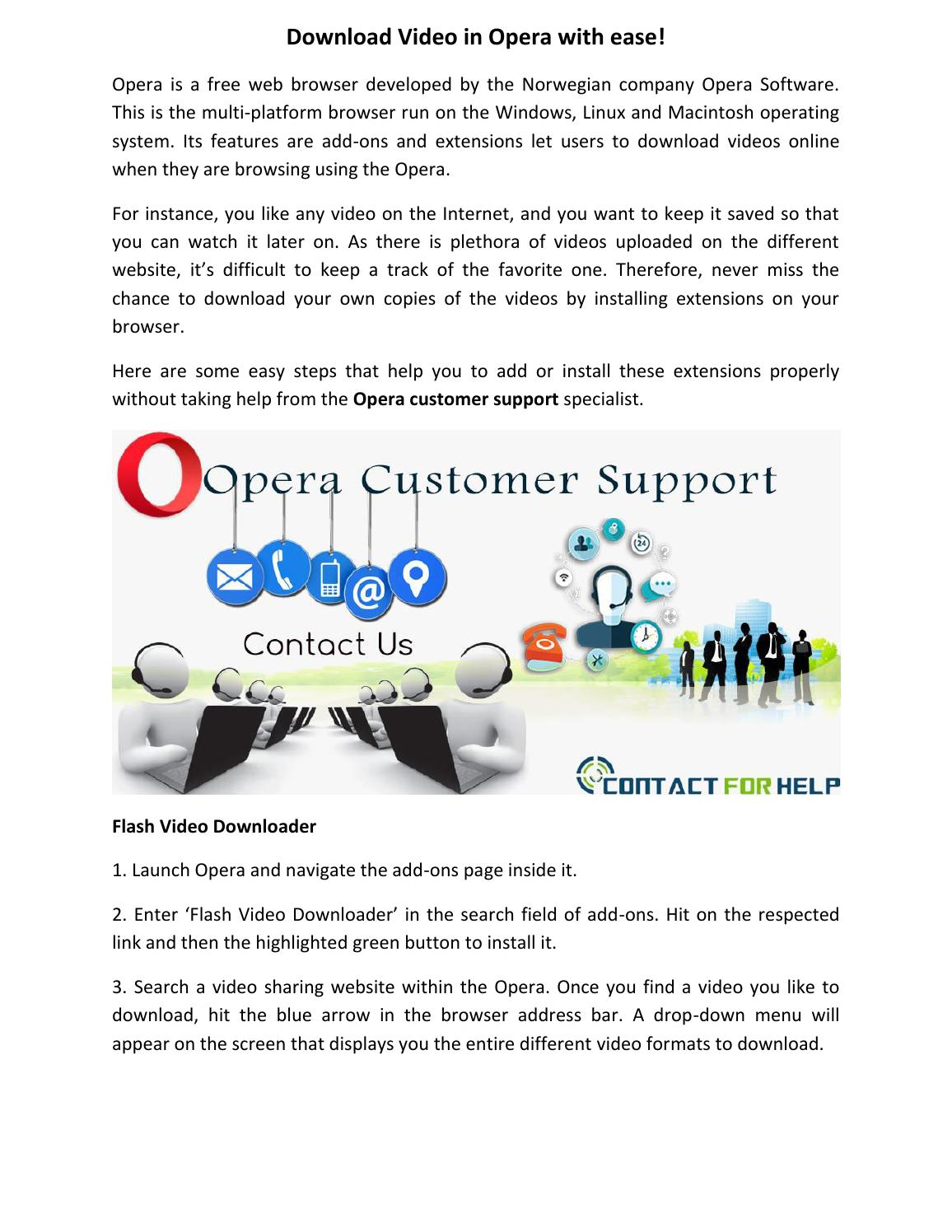 opera link download