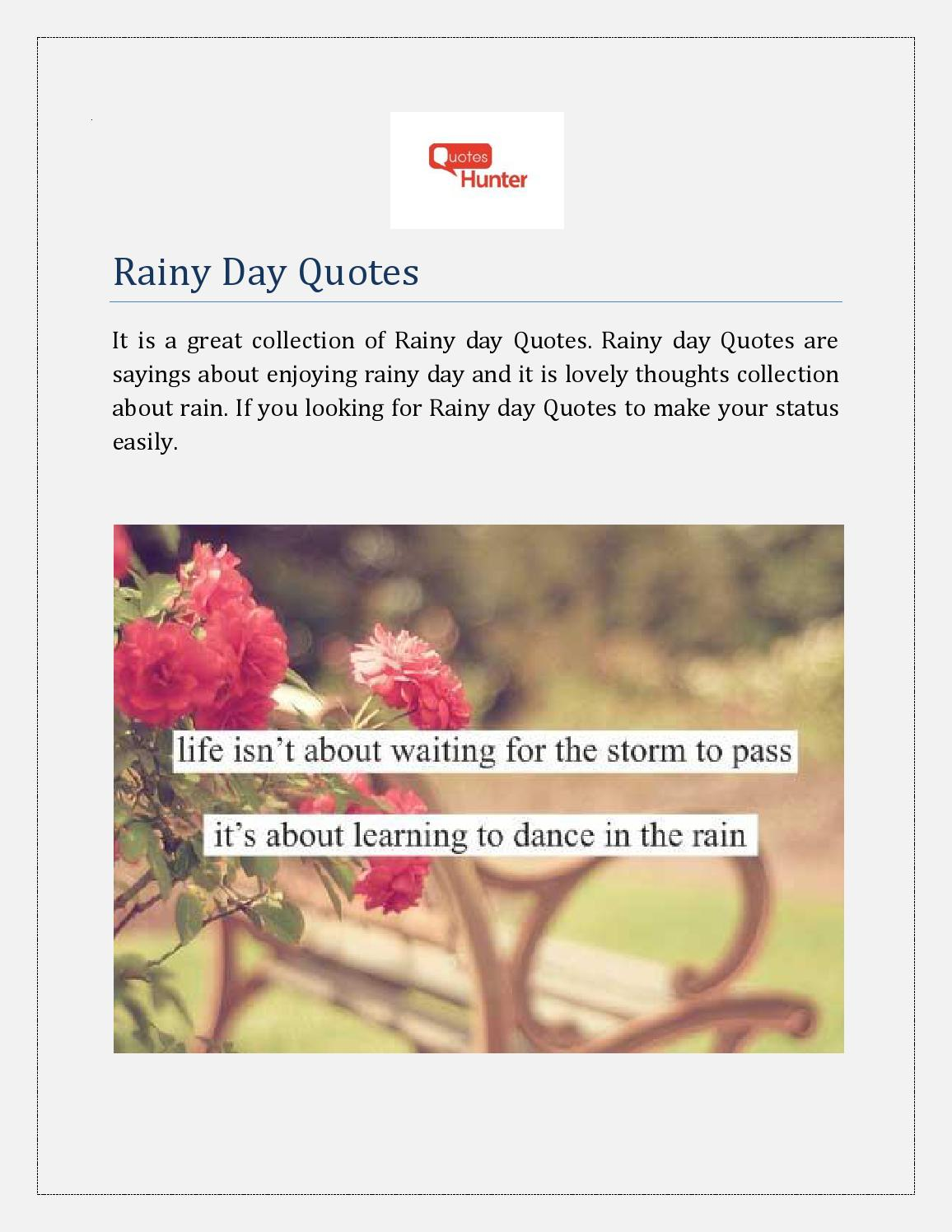 rainy day quotes by quoteshunter issuu