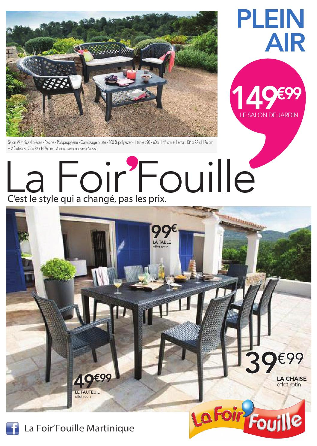 Catalogue plein air by la foir 39 fouille issuu - Petite table de jardin la foir fouille ...
